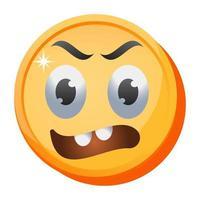 emoji et expression d'anxiété vecteur
