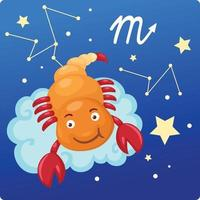 signes du zodiaque - illustration du scorpion vecteur
