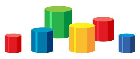 Ensemble d'étapes colorées vecteur