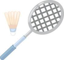 illustration de raquette de badminton vecteur