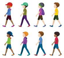Adolescents sans visage vecteur