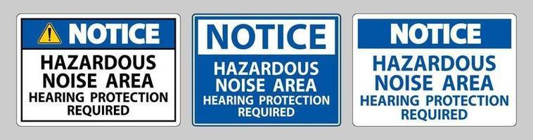 avis signe zone de bruit dangereux protection auditive requise vecteur