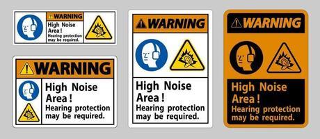 Panneau d'avertissement, une protection auditive peut être nécessaire vecteur
