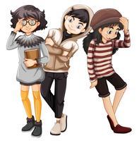 Personnage de jeunes à la mode vecteur