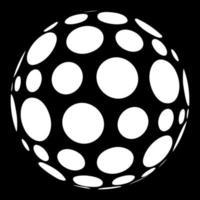 pois abstraits sous forme de sphère vecteur