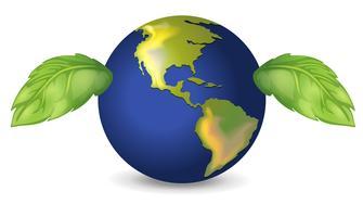 Terre verte vecteur