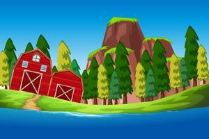 Une maison rurale nature vecteur