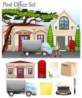 Bureau de poste et objets postaux