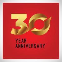 Vecteur de logo anniversaire 30 ans