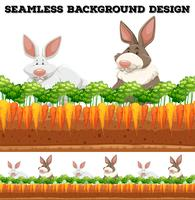 Ferme aux lapins et carottes vecteur