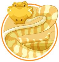 Serpent sur le modèle de cercle