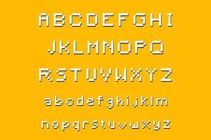 police de l'alphabet pixélisé moderne de a à z vecteur