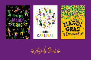 Mardi Gras. Modèles de vecteur pour le concept de carnaval et d'autres utilisateurs