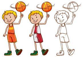 Caractère de rédaction pour basketteur