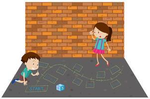 Jeu d'enfants jouant aux maths vecteur