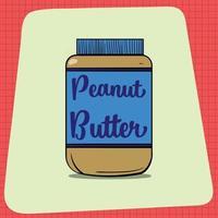 un grand pot de beurre de cacahuète. vecteur