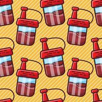 Illustration vectorielle de modèle sans couture de bouteille de sauce de soja vecteur