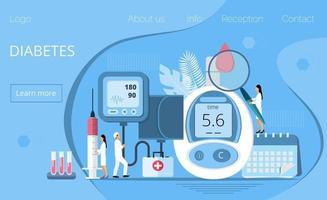 vecteur de concept de diabète de type 2 et de production d'insuline