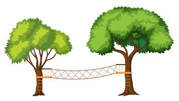 Activités d'aventure dans les arbres isolés vecteur