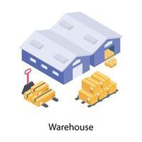 concepts d'entrepôt de dépôt vecteur