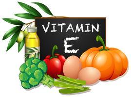 Les aliments avec de la vitamine E