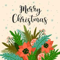 Illustration de Noël et bonne année. Style rétro branché. vecteur