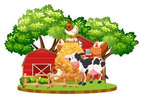 Animaux de la ferme à la ferme vecteur