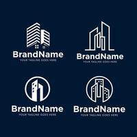 modèle de vecteur de construction de bâtiment de logo