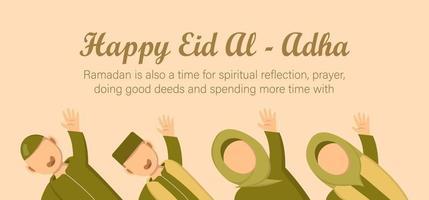 eid al adha célébration de la fête musulmane. vecteur
