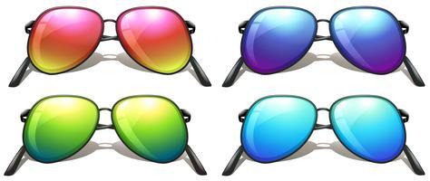Lunettes de soleil colorées vecteur