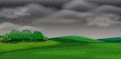 Concept de scène de tempête de parc vecteur