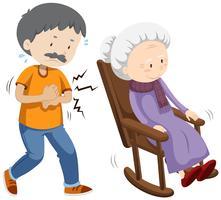 Un vecteur de personnes âgées
