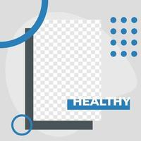 affiche de service de clinique oculaire modèle de publication de médias sociaux minimalis modernes vecteur