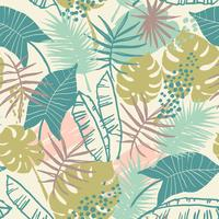 Modèle exotique sans couture avec des plantes tropicales.