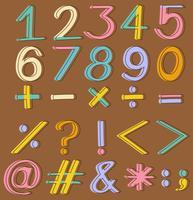 Chiffres et opérations mathématiques vecteur