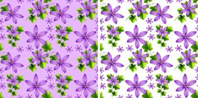 Design de fond sans couture avec fleurs violettes vecteur