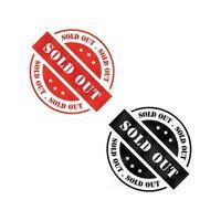 bannière de timbre vectoriel épuisé