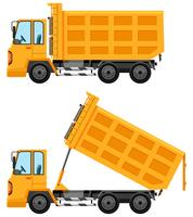 Dumping trucks en couleur jaune