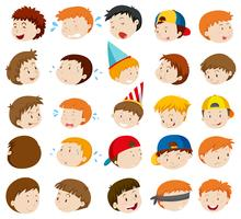 Expressions faciales des garçons
