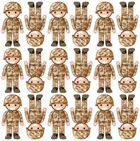Design de fond transparente avec des soldats de plomb