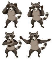 Un raton laveur avec une danse shmoney vecteur