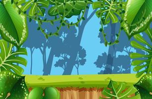 Scène de la jungle vide vecteur
