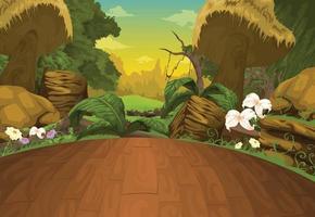 illustration de fond de beau paysage vecteur
