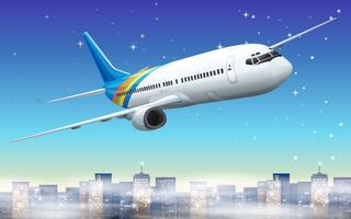 Un grand avion dans le ciel