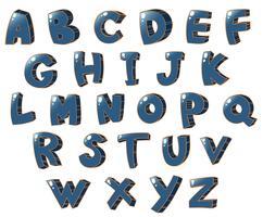 Les lettres de l'alphabet vecteur