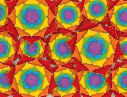 fond indien lotus sacré avec les sept couleurs des chakras vecteur