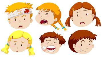 Garçons et filles blessés