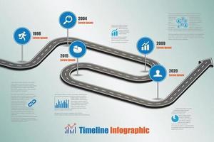 Feuille de route d'entreprise chronologie modèle infographique illustration vectorielle vecteur