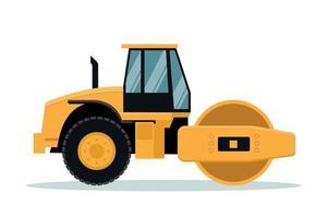 conception de vecteur de rouleau plat. machinerie lourde