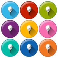 Icônes de golf vecteur